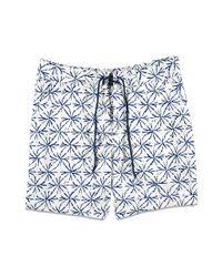 Forever 21 - Blue Sunburst Print Swim Trunks for Men - Lyst