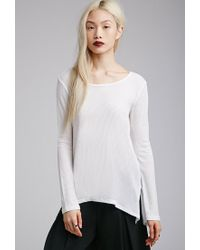 Forever 21 - Natural Vented Thermal Top - Lyst