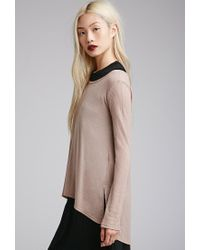 Forever 21 - Brown Vented Thermal Top - Lyst