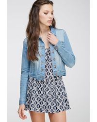 Forever 21 | Blue Faded Denim Jacket | Lyst