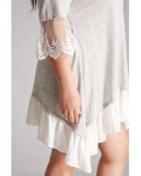 Forever 21 - Gray Tassels N Lace Swing Dress - Lyst