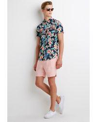 Forever 21 | Pink Linen-blend Drawstring Shorts for Men | Lyst
