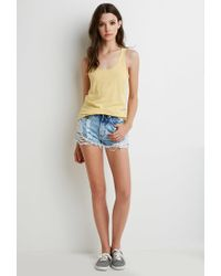 Forever 21 - Yellow Heathered Knit Tank - Lyst