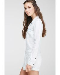 Forever 21 - Blue Faded Chambray Playsuit - Lyst