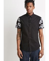Forever 21 | Black Rose Print Shirt for Men | Lyst