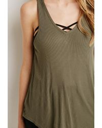 Forever 21 - Green Boxy Ribbed Knit Tank - Lyst