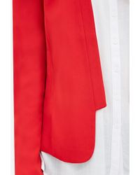 Forever 21 - Red Collarless Open-front Blazer - Lyst