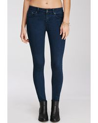 Forever 21 | Blue Contemporary Low-rise Skinny Jeans | Lyst