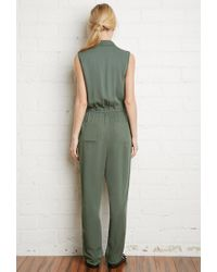 Forever 21 - Green Classic Utility Jumpsuit - Lyst