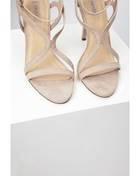 Forever 21 - Brown Curved Strap Stiletto Sandals - Lyst