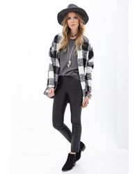 Forever 21 | Black Faux Leather Pants | Lyst