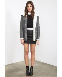Forever 21 | Gray Faux Shearling-lined Duffle Coat | Lyst