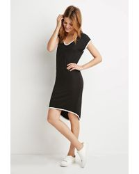 Forever 21 - Black Contemporary Contrast-trimmed Dress - Lyst