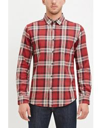 Forever 21 | Red Classic Tartan Plaid Shirt for Men | Lyst