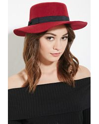 Forever 21   Red Bow Band Boater Hat   Lyst