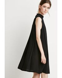 Forever 21 | Black Contemporary Pleated Trapeze Dress | Lyst