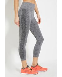 Forever 21 | Gray Heathered Athletic Capri Leggings | Lyst