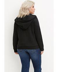 Forever 21 - Black Plus Size Zip-up Hoodie - Lyst
