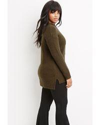 Forever 21 - Green Plus Size Longline Fuzzy Sweater - Lyst