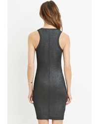 Forever 21 - Blue Contemporary Metallic Knit Dress - Lyst