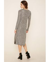 Forever 21 - Gray Layered Stretchy Marled Dress - Lyst