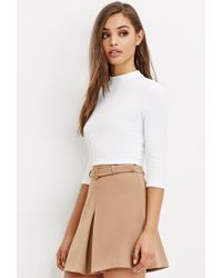 Forever 21 - White Cutout-back Crop Top - Lyst