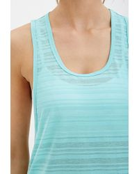 Forever 21 - Blue Shadow Stripe Muscle Tee - Lyst