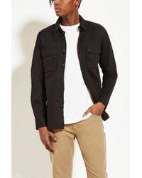 Forever 21 | Black Cotton Flap-pocket Shirt for Men | Lyst