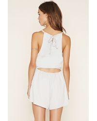 Forever 21 - White The Fifth Label Cutout Romper - Lyst