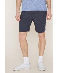 Forever 21   Blue Drawstring Fleece Shorts for Men   Lyst