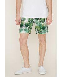 Forever 21 | Multicolor Palm Leaf Print Swim Trunks for Men | Lyst