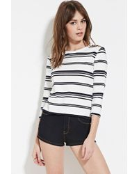 Forever 21 | White Buttoned Stripe Top | Lyst