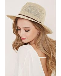 Forever 21 | Yellow Straw Fedora | Lyst