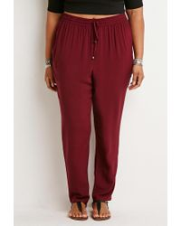 Forever 21 - Red Plus Size Classic Drawstring Pants - Lyst