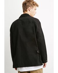 Forever 21 - Black Classic Utility Jacket for Men - Lyst
