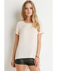 Forever 21 | White Cuffed-sleeve Top | Lyst
