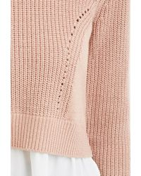 Forever 21 | Purple Contemporary Chiffon-layered Sweater | Lyst