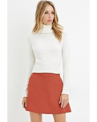 Forever 21 | Natural Contemporary Textured Turtleneck Sweater | Lyst
