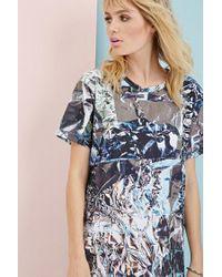 Forever 21 | Gray Clashist Aluminum Foil T-shirt Dress | Lyst