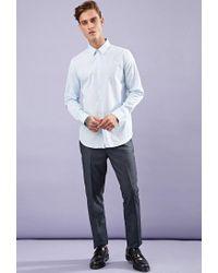 Forever 21 | Blue Classic Cotton Shirt for Men | Lyst