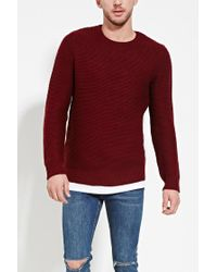 Forever 21 | Purple Textured Knit Sweater for Men | Lyst