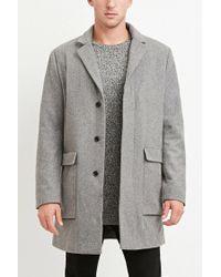 Forever 21 | Gray Wool-blend Longline Coat for Men | Lyst