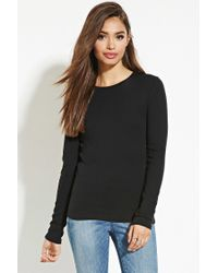 Forever 21 | Black Classic Cotton Tee | Lyst