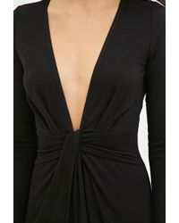 Forever 21 - Black Twist-front Maxi Dress - Lyst