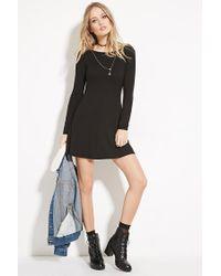 Forever 21 - Black Tie-back Mini Dress - Lyst