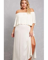 d193686c4c Forever 21 Plus Size Boho Me Maxi Dress in White - Lyst