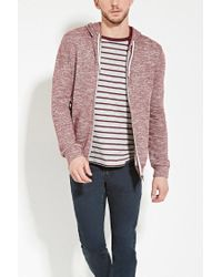 Forever 21 | Purple Heathered Zip-up Hoodie for Men | Lyst