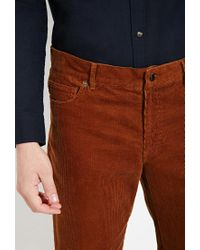 Forever 21 | Brown Slim Fit Corduroy Pants for Men | Lyst
