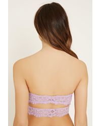 Forever 21 - Pink Cutout Lace Bandeau - Lyst