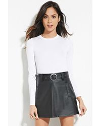 Forever 21 | White Heathered Knit Top | Lyst